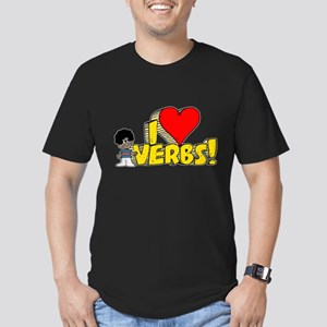 I Heart Verbs - Schoolhouse Rock! Men's Fitted T-S