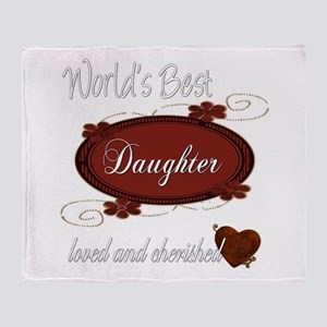 Cherished Daughter Throw Blanket