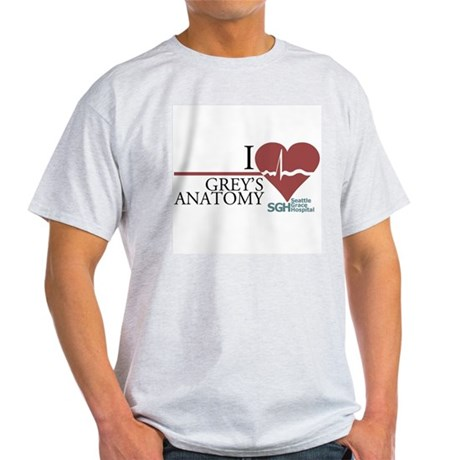 I Heart Greys Anatomy Light T Shirt I Heart Greys Anatomy T Shirt