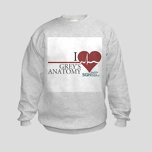 I Heart Grey's Anatomy Kids Sweatshirt