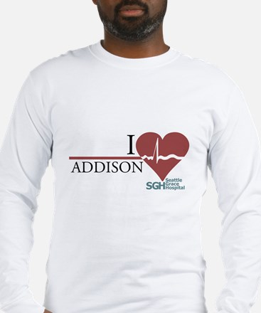 I Heart Addison - Grey's Anatomy Long Sleeve T-Shi