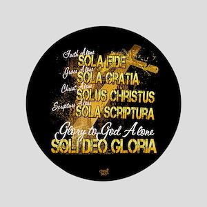 """Soli Deo Gloria 3.5"""" Button"""