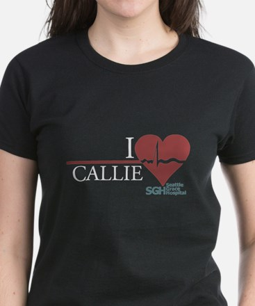 I Heart Callie - Grey's Anatomy Women's Dark T-Shi