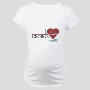I Heart George - Grey's Anatomy Maternity T-Shirt