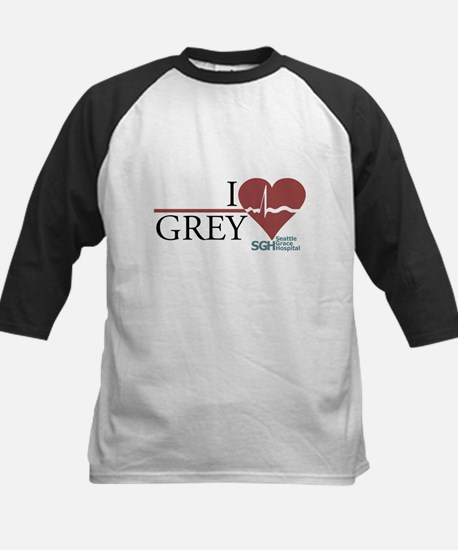 I Heart Grey - Grey's Anatomy Kids Baseball Jersey
