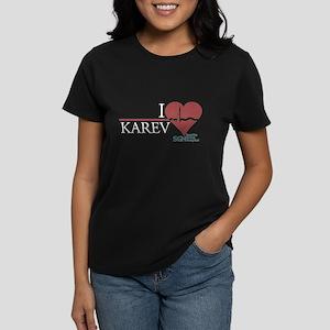 I Heart Karev - Grey's Anatomy Women's Dark T-Shir
