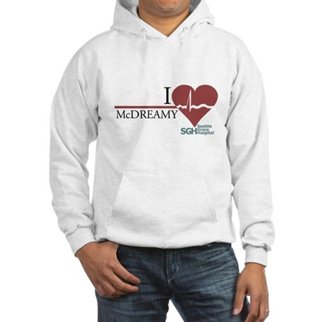 I Heart McDREAMY - Grey's Anatomy Hooded Sweatshir