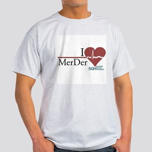 I Heart MerDer - Grey's Anatomy Light T-Shirt
