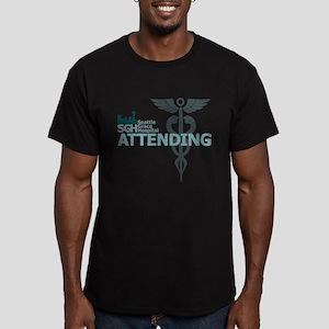 Seattle Grace Attending Men's Fitted T-Shirt (dark