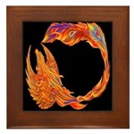 Flaming Phoenix Framed Tile