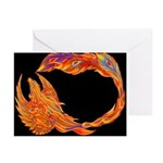 Flaming Phoenix Greeting Cards (Pk of 10)
