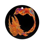 Flaming Phoenix Ornament (Round)