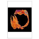 Flaming Phoenix Large Poster