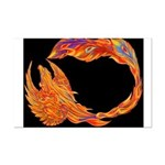 Flaming Phoenix Mini Poster Print