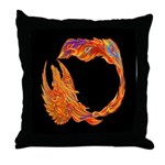 Flaming Phoenix Throw Pillow