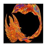 Flaming Phoenix Tile Coaster