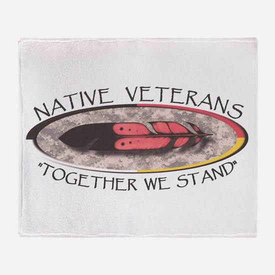 Native Veterans Throw Blanket