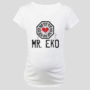 I Heart Mr. Eko - LOST Maternity T-Shirt