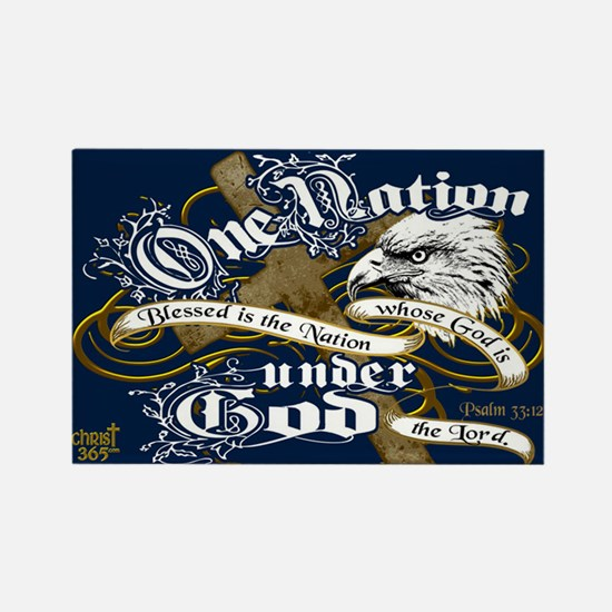 One Nation - Blessed Rectangle Magnet