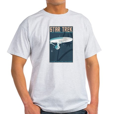 Retro Star Trek: TOS Poster Light T-Shirt