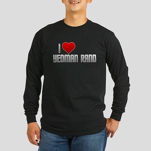 I Heart Yeoman Rand Long Sleeve Dark T-Shirt