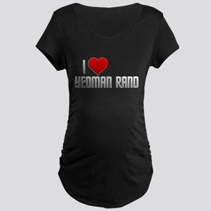 I Heart Yeoman Rand Maternity Dark T-Shirt