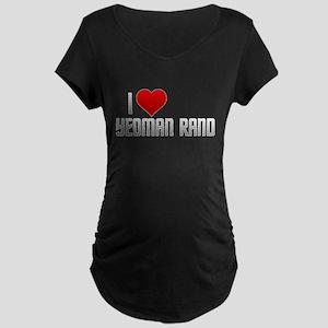 I Heart Yeoman Rand Maternity Dark T-Shirt