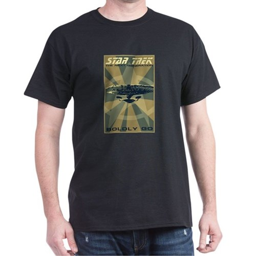 Retro Star Trek: TNG Poster Dark T-Shirt