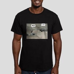 I IZ Comfy! Men's Fitted T-Shirt (dark)