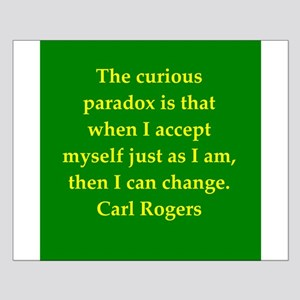 Carl Rogers quote Small Poster