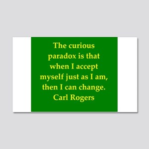 Carl Rogers quote 22x14 Wall Peel