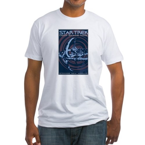 Retro Star Trek: DS9 Poster Fitted T-Shirt