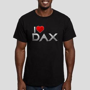 I Heart Dax Men's Fitted T-Shirt (dark)