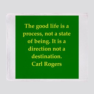 Carl Rogers quote Throw Blanket