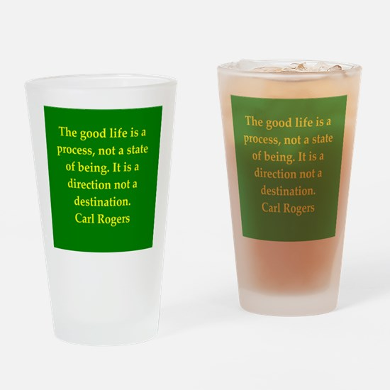 Carl Rogers quote Drinking Glass