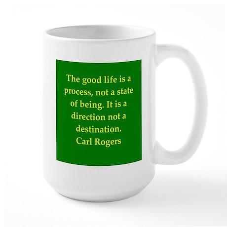Carl Rogers quote Large Mug