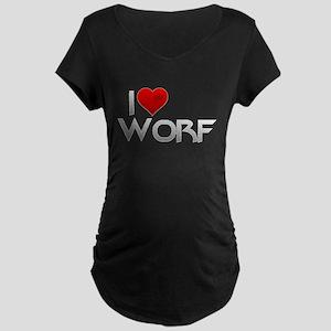 I Heart Worf Maternity Dark T-Shirt