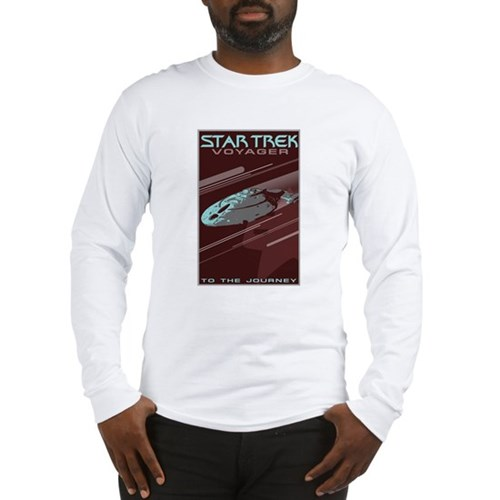 Retro Star Trek: VOY Poster Long Sleeve T-Shirt