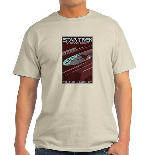 Retro Star Trek: VOY Poster Light T-Shirt