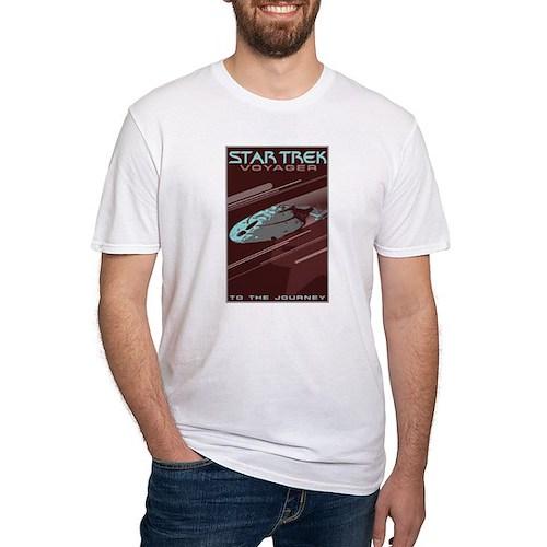 Retro Star Trek: VOY Poster Fitted T-Shirt