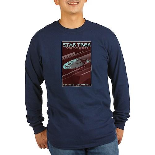 Retro Star Trek: VOY Poster Long Sleeve Dark T-Shi