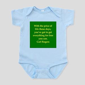 Carl Rogers quote Infant Bodysuit