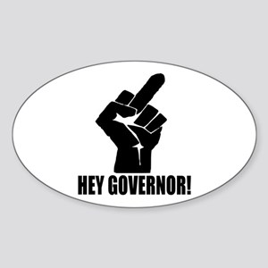 Hey Governor! Sticker (Oval)