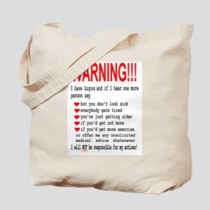 Lupus Warning Tote Bag