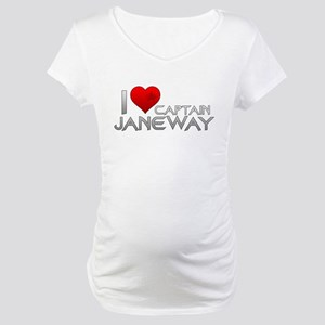I Heart Captain Janeway Maternity T-Shirt