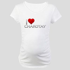 I Heart Chakotay Maternity T-Shirt
