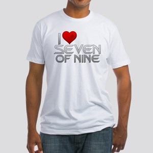 I Heart Seven of Nine Fitted T-Shirt