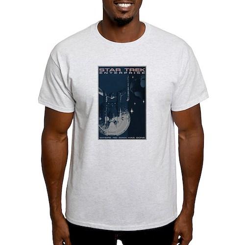 Retro Star Trek: Enterprise Poster Light T-Shirt