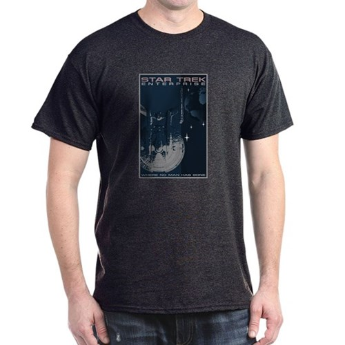 Retro Star Trek: Enterprise Poster Dark T-Shirt