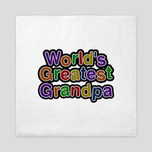 World's Greatest Grandpa Queen Duvet